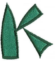 Oriental K embroidery design