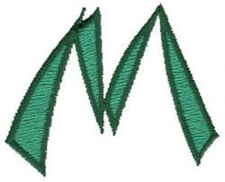 Oriental M embroidery design