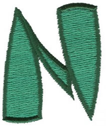 Oriental N embroidery design