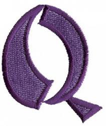 Oriental Q embroidery design