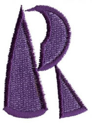 Oriental R embroidery design