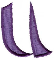 Oriental U embroidery design