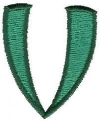 Oriental V embroidery design