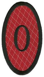 Oval Applique 0 embroidery design