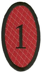 Oval Applique 1 embroidery design