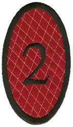 Oval Applique 2 embroidery design
