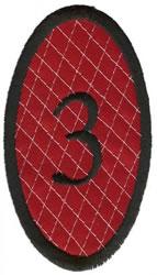 Oval Applique 3 embroidery design