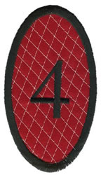 Oval Applique 4 embroidery design