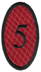 Oval Applique 5 embroidery design