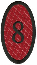 Oval Applique 8 embroidery design