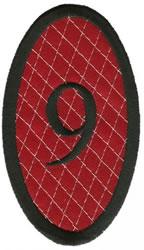 Oval Applique 9 embroidery design