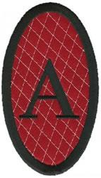 Oval Applique A embroidery design