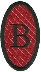 Oval Applique B embroidery design