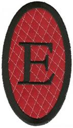 Oval Applique E embroidery design
