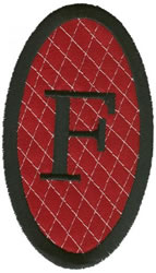 Oval Applique F embroidery design