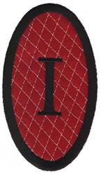 Oval Applique I embroidery design