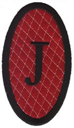 Oval Applique J embroidery design
