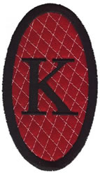 Oval Applique K embroidery design
