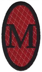 Oval Applique M embroidery design