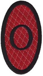 Oval Applique O embroidery design