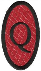 Oval Applique Q embroidery design