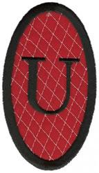 Oval Applique U embroidery design