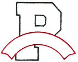 Athletic Banner P embroidery design