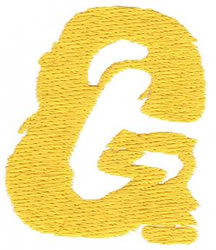 Paint G embroidery design
