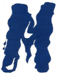 Paint M embroidery design