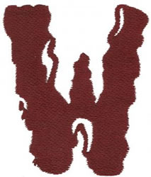 Paint W embroidery design