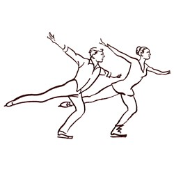 Figure Skating Pair embroidery design