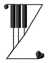 Piano Z embroidery design
