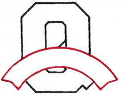 Athletic Banner Q embroidery design