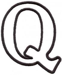 Applique Q embroidery design