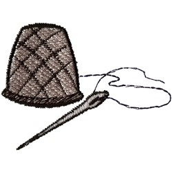 Thimble and Needle embroidery design