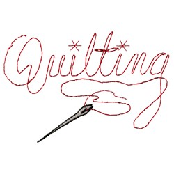 Quilting embroidery design