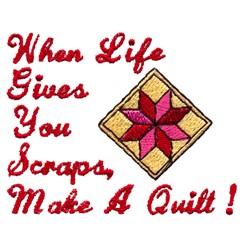 Lifes Scraps Quilting embroidery design