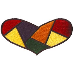 Quilted Heart embroidery design