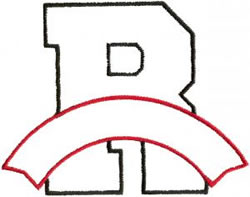 Athletic Banner R embroidery design