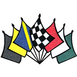 7 Racing Flags embroidery design