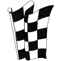 Racing Flag Outline embroidery design