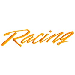Racing Text embroidery design