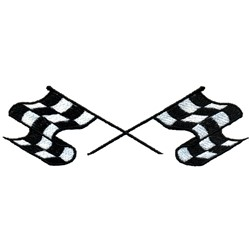 Crossed Racing Flags embroidery design