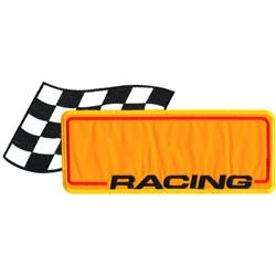 Racing Logo Appliqué embroidery design