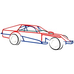 Abstract Car Outline embroidery design