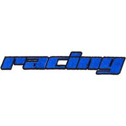 Racing Logo embroidery design