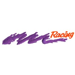 Racing Swoosh embroidery design