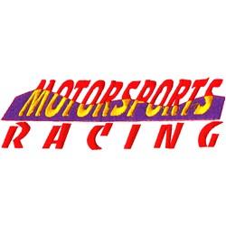 Motorsports Logo embroidery design