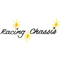 Racing Chassis Logo embroidery design