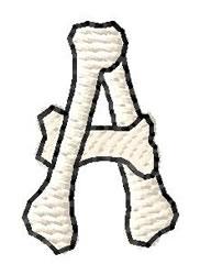 Bones Letter A embroidery design